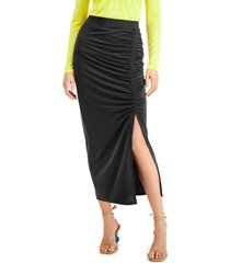 inc ruched slit midi skirt, created for macy's