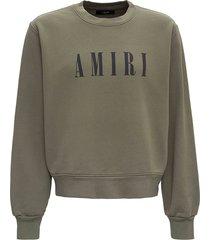 amiri jersey sweatshirt with logo print