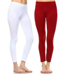 white mark pack of 2 solid leggings