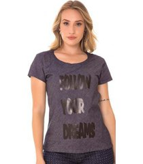blusa use jeans express t-shirt ngela amaciada - feminino