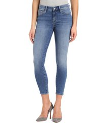 women's mavi jeans gold adriana stretch super skinny ankle jeans, size 24 - blue