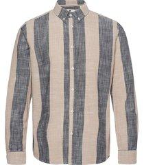 aklouis ls stripe overhemd casual bruin anerkjendt