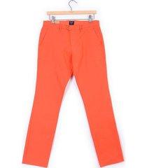 pantalón color siete para hombre - naranja