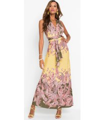 maxi jurk met paisleyprint