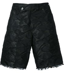a.f.vandevorst crumpled frayed shorts - black