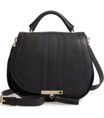 demellier midi venice grained leather crossbody bag -