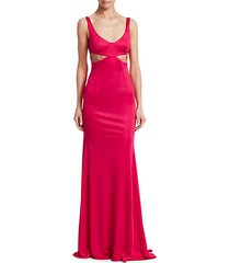 cut out jersey column gown