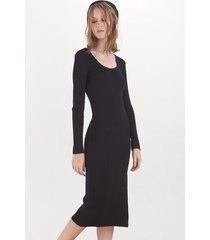 vestido negro desiderata dress caspio