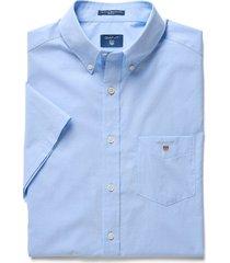 gant heren overhemd licht korte mouwen button down regular fit