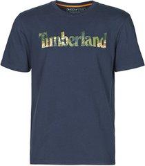 t-shirt korte mouw timberland ss kennebec river seasonal pattern linear logo tee