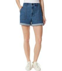 frayed high rise shorts