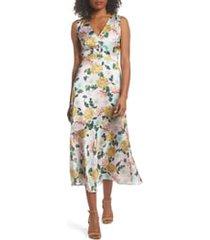 women's sam edelman floral midi dress, size 14 - pink