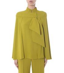 alberta ferretti hooded blouse