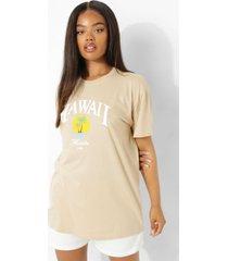oversized hawaii t-shirt, stone