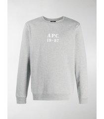 a.p.c. logo long-sleeve sweatshirt