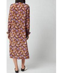 baum und pferdgarten women's anamay dress - paris flower sunshine - eu 40/uk 12