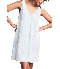 women's faherty florence tie shoulder dress, size x-small - blue