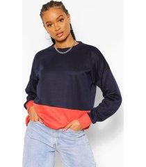 colour block sweatshirt, navy