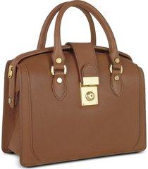 l.a.p.a. designer handbags, brown italian leather doctor bag
