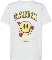 basic cotton jersey t-shirts & tops short-sleeved ganni
