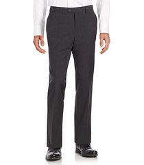 straight-leg wool dress pants