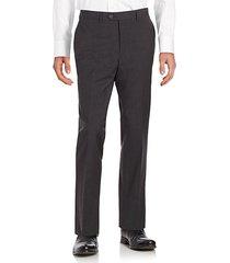 straight-leg wool dress pants