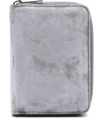 maison margiela grey wallet in distressed effect leather