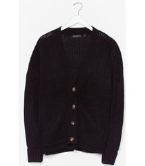 womens knit's not the time relaxed cardigan - black