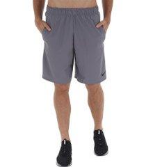 bermuda nike flex short woven 2.0 - masculina - cinza escuro