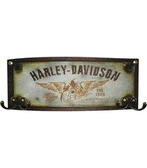 cabideiro de madeira harley davidson - multicolorido - dafiti
