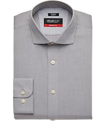 awearness kenneth cole awear-tech gray check slim fit dress shirt