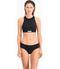 puma swim hipster bikinibroekje voor dames, zwart, maat m
