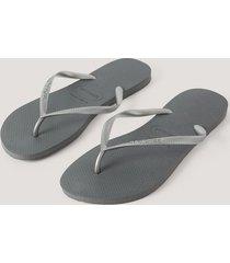 havaianas havaianas slim flip flop - grey