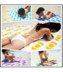 printed-pineapple-tassel-beach-towel-round-beach-towel-microfiber-cotton-shawl-t