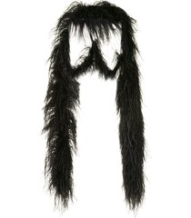 16arlington multiway feather boa shawl - black