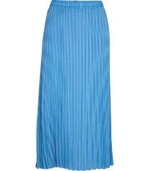 slfrylee mw ankle skirt b knälång kjol blå selected femme