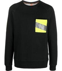 raeburn raf hi-vis pocket crew neck sweatshirt - black