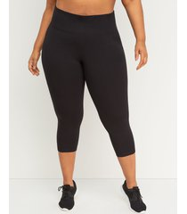 lane bryant women's livi capri power legging 14/16 black