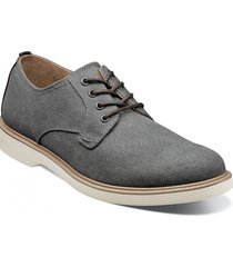 zapato supacush canvas plain toe oxford gris florsheim