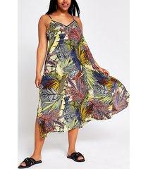 river island womens plus navy floral slip midi beach dress