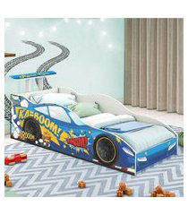 cama carro corredor solteiro azul casah