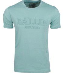 ballin new york ballin heren t-shirt met 3d reliëf opdruk mint