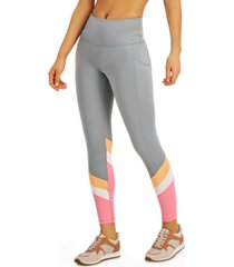 ideology colorblocked high-waist 7/8 length leggings, created for macy's
