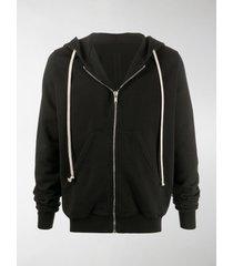 rick owens drkshdw zipped drawstring hoodie