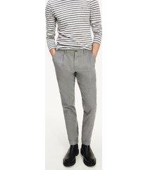 tommy hilfiger men's slim fit brushed cotton chino light grey heather - 34/34