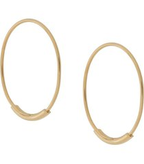 maria black basic hoop 22mm earrings - gold