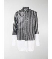 y/project longline striped shirt cardigan