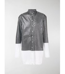 y/project longline striped shirt cardigan