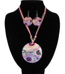 collar nacar rosado puntos acl-12684