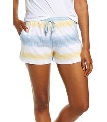 women's z well tie dye sleep shorts, size large - beige